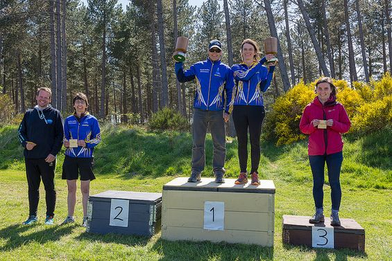Scottish Championships 2018, M/W45 podium
