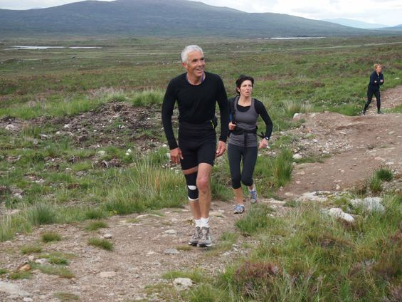 Gareth at Rannoch on the West Highland Way Race