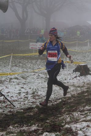 Beccy tackles the fog and mud