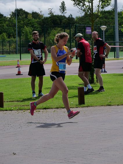 Fanni Gyurko at British Mixed Sprint Relay