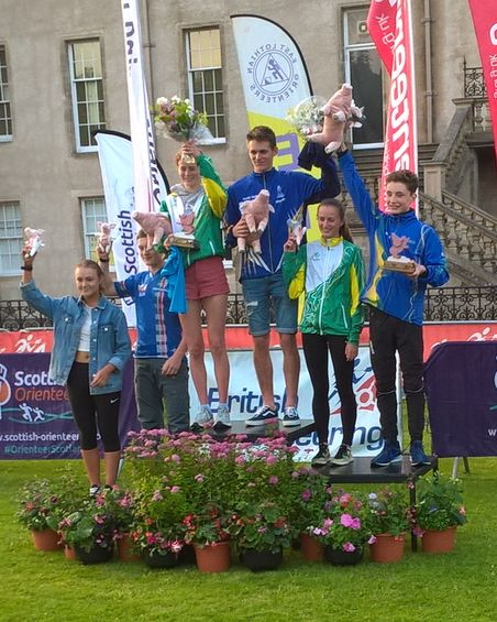JOK Chasing Sprint - Junior podium